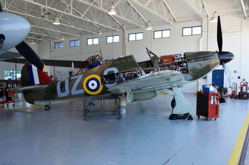 Hawker Hurricane XII 'V6793 DZ-O', Military Aviation Museum, Virginia Beach, Virginia, 19 May 2017 1.  Canadian built.  Registered as N943HH, previously N2549.
