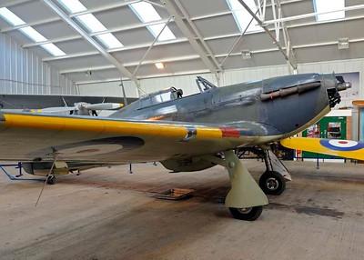 Hawker survivors: Hurricane, Typhoon and Tempest.