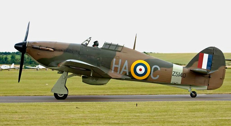 Hawker Hurricane XII 'Z5140 HA-C', Flying Legends airshow, Duxford, 13 July 2008 2.
