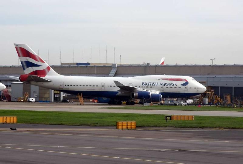 British Airways Boeing 747-400 G-CIVN, Heathrow airport, Thurs 3 May 2018 - 1000.