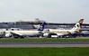 Saudi Arabian Airlines Boeing 777-300 HZ-AK18 & Etihad Airways Airbus A380-800 A6-APH, Heathrow airport, Thurs 3 May 2018 - 0955.