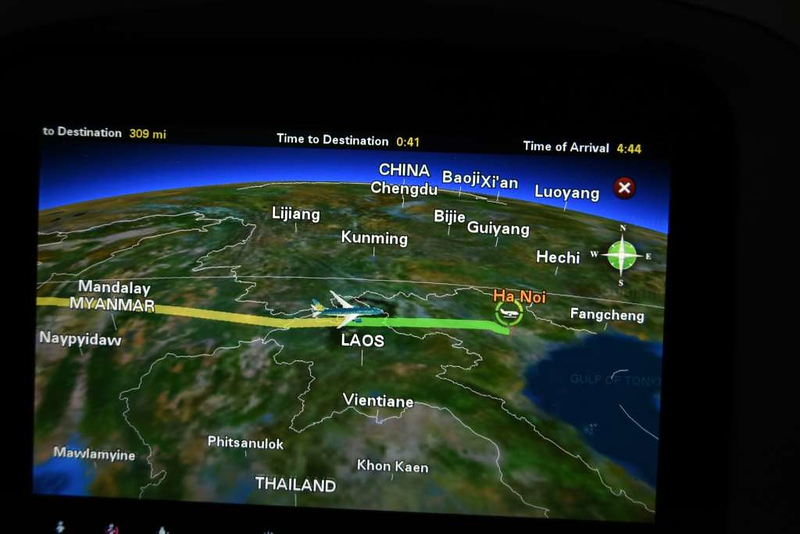 Vietnam Airlines Flight 054, Boeing 787-9 VN-A863, Fri 2 March 2018 - 2104.  We also avoided China.