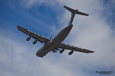The Lockheed C-5 Galaxy is a large military transport aircraft built by Lockheed.