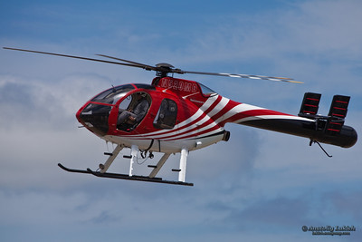 Hughes/MD Helicopters MD 500 Series. The MD Helicopters MD 500 series is an American family of light utility civilian and military helicopters. The MD 500 was developed from the Hughes 500, a civilian version of the US Army's OH-6A Cayuse/Loach.