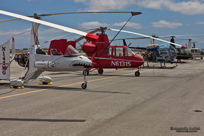 Helicopters on display at the Vertical Challenge 2010, June 19th, 2010, at the Hiller Aviation Museum in San Carlos CA.