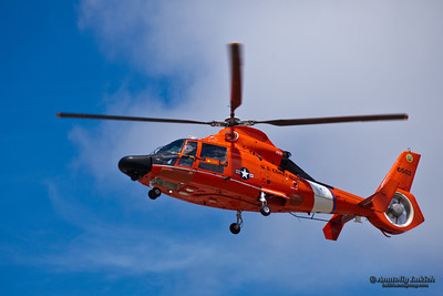 Eurocopter HH-65 Dolphin. The HH-65 Dolphin is a twin-engine, single main rotor, MEDEVAC-capable, Search and Rescue (SAR) helicopter operated by the United States Coast Guard (USCG). It is a variant of the French-built Eurocopter Dauphin.