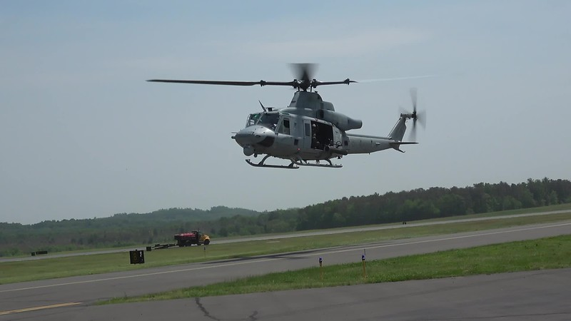 Two AH-1W SuperCobras and a UH-1Y Super Huey
