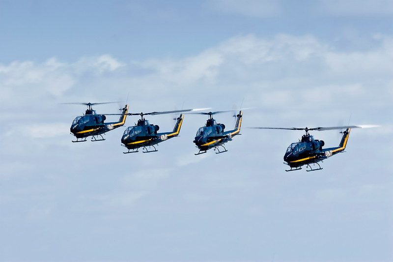 United States Army Sky Soldiers Precision Flight Demonstration Team AH-1F Cobra Attack helicopter