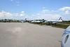 Aeropark Museum, Ferenc Liszt international airport, Budapest, 12 May 2018 1.  Here are two general views from Il-18 HA-MOA.  From the left are Il-18V HA-MOG, Tu-134 HA-LBE, Li-2 HA-LIQ, Yak-40 HA-LRA & IL-14 HA-MAL.