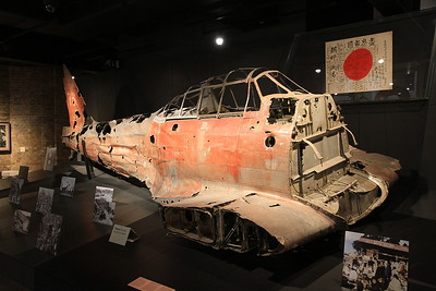The mortal remains of Mitsubishi Zero A6M3 fighter - recovered from an atoll in the vicinity of Taroa in the 1990's - 05/07/16.