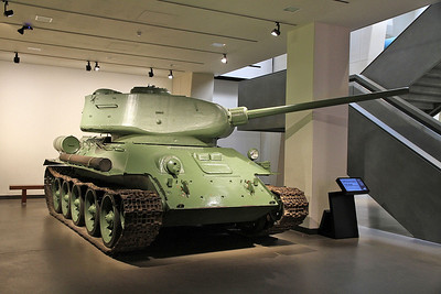 T-34 tank ....... built in Czechoslovakia in 1954 to a Soviet design, later sold to Egypt and captured by the Israelis during the 1973 Arab-Israeli war - 05/07/16.