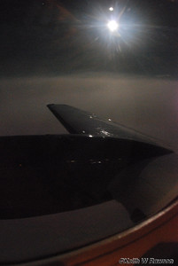 Moonlit view, King Air Beech 200