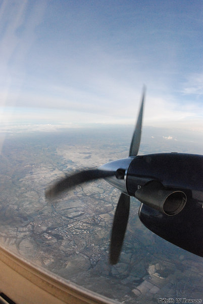 Propellers at 1700 rpm frozen by a fast shutter speed.