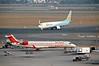 Air India Regional Canadair CRJ-700 VT-RJE & JetKonnect Boeing 737-700 VT-JLG, Delhi Indira Gandhi international airport (DEL / VIDP), 31 March 2012