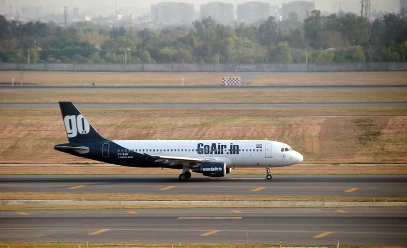 GoAir Airbus A320-200 VT-WAM, Delhi Indira Gandhi international airport (DEL / VIDP), 31 March 2012