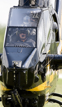 """The US Army """"Sky Soldiers"""" flying their AH-1 Cobra attack helicopter"""