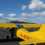 Alpha Uniform on the apron at Newtownards with Scrabo Tower in the background