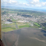 Newtownards Airfield with Belfast Lough in the distance