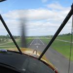 Short final for Enniskillen runway 33