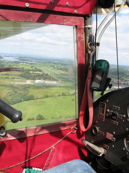 Turning final at Enniskillen