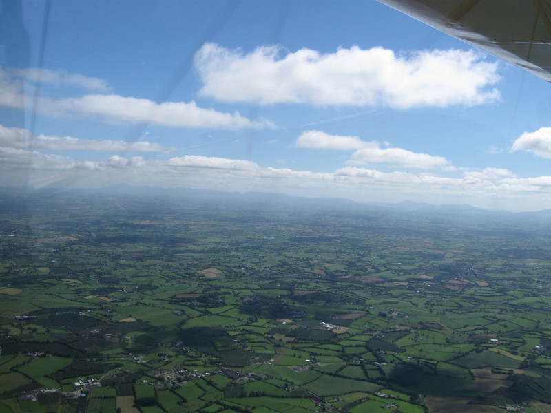 Looking South East towards the Mourne mountains