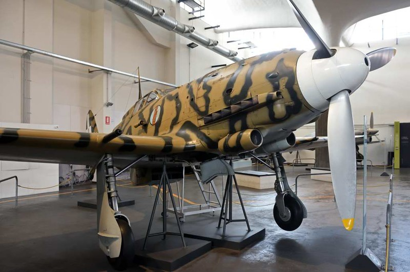 Macchi MC 205V Veltro (Greyhound) 'MM 9327', Leonardo da Vinci National Museum of Science and Technology, Milan, 9 June 2015 1.  The best Italian fighter of the Second World War.  But production did not start until September 1942 and only 262 were built.  This is one of three survivors; all incorporate parts from different aircraft.