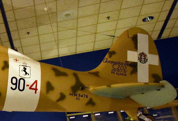 Macchi C202 MM 9476 Folgore (Thunderbolt), Smithsonian Air and Space Museum. Washington DC, 15 May 2017 4.
