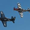 Heritage Flight P-51 and F-8F
