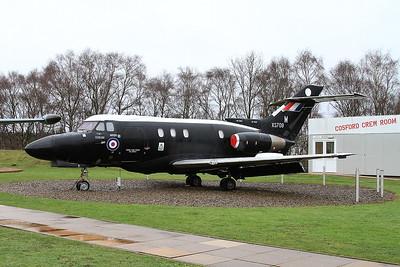 ex-RAF Hawker Siddeley Dominie T.Mk.1, XS709 / M, on display outside the RAF Museum, Cosford - 16/01/17.