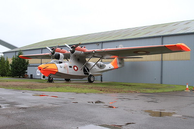 ex-USN Consolidated Vultee PBY-6A Catalina, L-866 / 8466M, on display outside the RAF Museum, Cosford - 16/01/17.