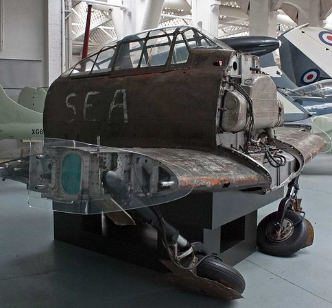 Mitsubsihi Zero A6M5, Imperial War Museum, Duxford, 31 December 2012 1.  Cockpit section of an aircraft thought to have been captured in 1945 and evaluated by the Allied Technical Air Intelligence Unit (ATAIU) - South East Asia (SEA).
