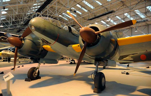 Mitsubishi Ki-46 III ('Dinah') reconnaissance aircraft, Royal Air force Museum, Cosford, 14 December 2012 1.  Introduced in 1941 and in service throughout the Second World War.  This is the only survivor of 1742 built.