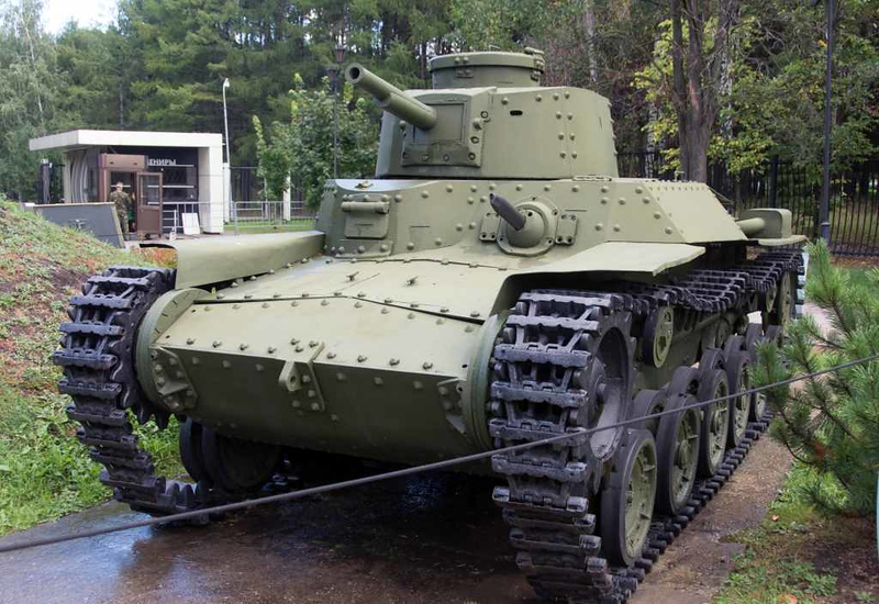 Japanese Type 97 Chi-Ha medium tank, Great Patriotic War Museum, Moscow, 29 August 2015.  Used by the 11th tank regiment on Shumsu island (Kuril islands).
