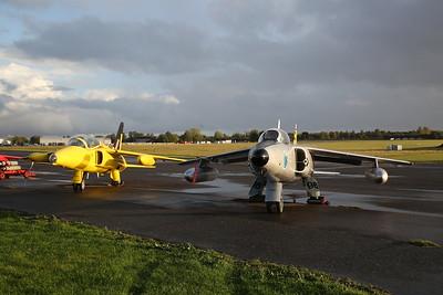 ex-RAF Folland Gnat T.Mk.1, XS102 (as 'XR992') / G-MOUR & ex-Indian Air Force Hindustan Gnat F.1, E296 / G-SLYR - 27/09/19