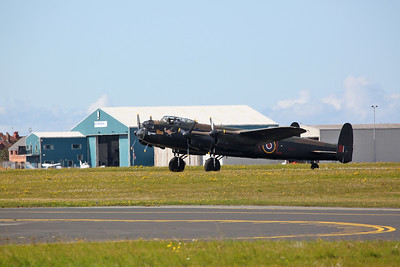 BBMF Avro Lancaster, PA474, taxiing for take off - 17/09/17