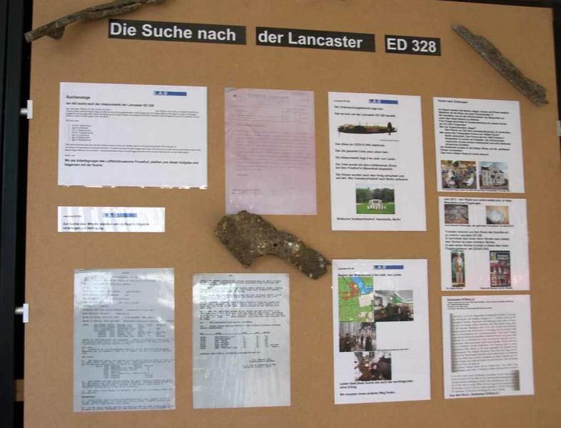 Avro Lancaster I ED328 / SR-S, Finowfurt Aviation Museum (Shelter 3), 2 June 2016 2. The search.