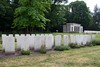 Berlin 1939 - 1945 Commonwealth War Cemetery, Berlin, 4 June 2016 9.  Three members of ED 328's crew - Flight Sergeants Tresidder, E I Phillips and Naffin - are buried in this row (1 H 9); they are 3rd, 4th and 6th from left respectively.  Their comrades are buried elsewhere in the cemetery.