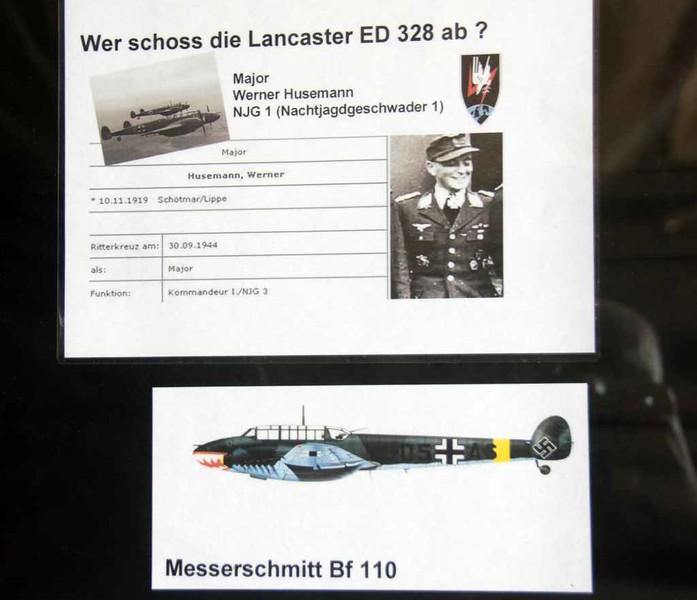 Avro Lancaster ED328 / SR-S, Finowfurt Aviation Museum (Shelter 3), 2 June 2016 5.  ED328 was shot down by a Bf 110 flown by Major W Husemann.