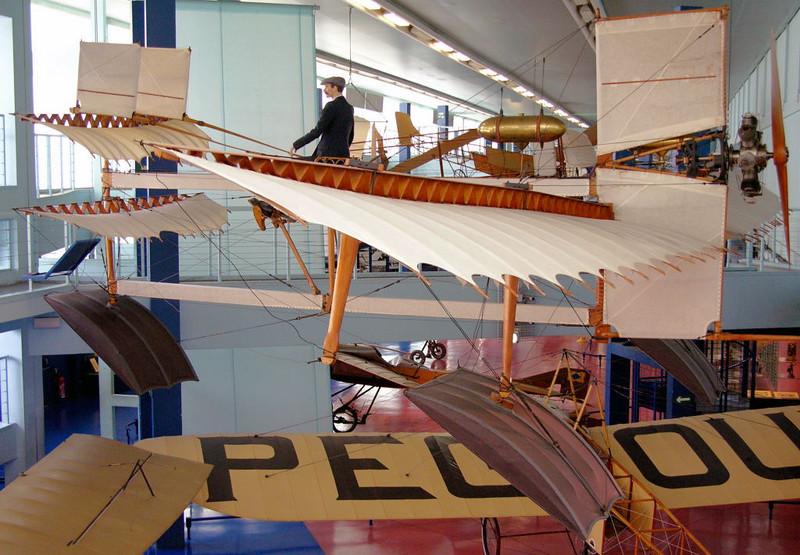 1910 - Fabre Hydravion, Musee de l'Air et de l'Espace, Le Bourget, Paris, 10 May 2005 1.  The world's first seaplane, it did fly.