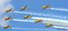 A rare 8 ship formation of Harvards at Tillsonburg Regional Airport.  Canadian Harvard Aircraft Association and the Canadian Harvard Aerobatic Team.