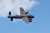 Avro Lancaster of the Battle of Britain Memorial Flight, over-flying Little Gransden airfield.