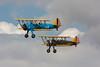 Boeing N2S-5 Kaydet reg G-AZLE and Boeing PT-13D Kaydet, reg G-AWLO