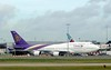 Thai Airways Boeing 747-400 HS-TGY, Heathrow Airport, Fri 29 August 2014 - 1006.