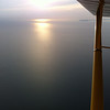 """Final shot to the west, still 1h 40m to sunset. The freighter """"Silver River"""" cuts a lonely wake."""