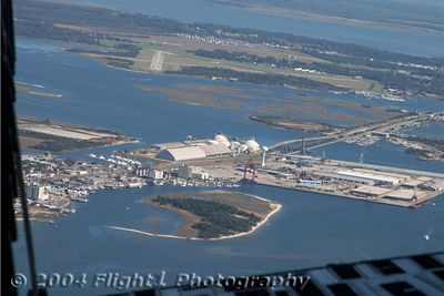 Michael J. Smith field and the port of Morehad City/Beaufort, NC