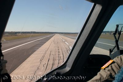 On Rollout with heavy braking. the C-17 stopped in less than 1,500 feet