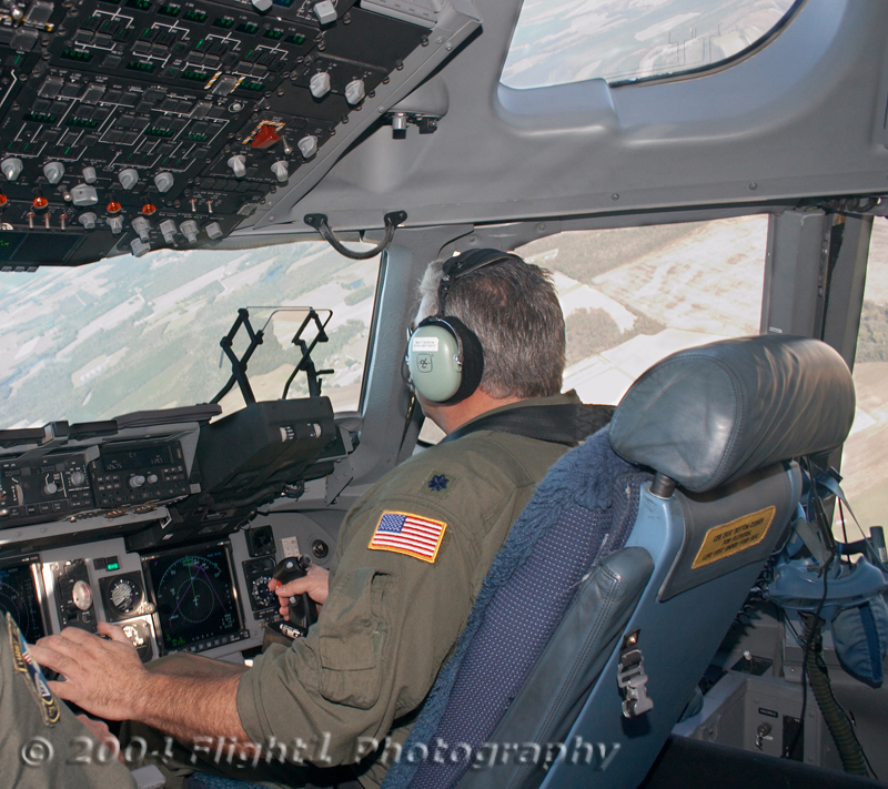 Lt Col Keith Guillotte pilots the C-17