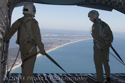 The NC Coast from the rear of the C-17
