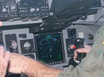 The glass cockpit and electronic flight controls. The C-17 has an electronic fly-by-wire flight control system