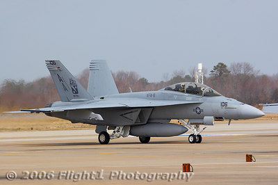 Super Hornet from the VFA-11 Red Rippers - a former Tomcat squadron